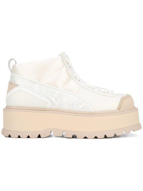 the best attitude 287bc 1f47e Fenty Puma X Rihanna Women's Platform Sneaker Boots in White