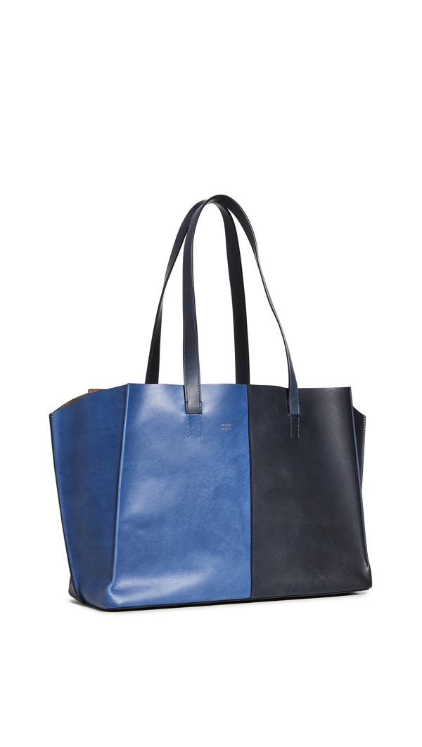 Mansur Gavriel Women's Multitude Bi-color Leather Tote In Blue