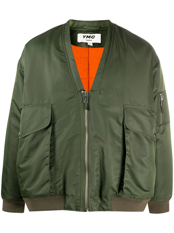 Ymc You Must Create Paninaro Oversized Bomber Jacket In Green