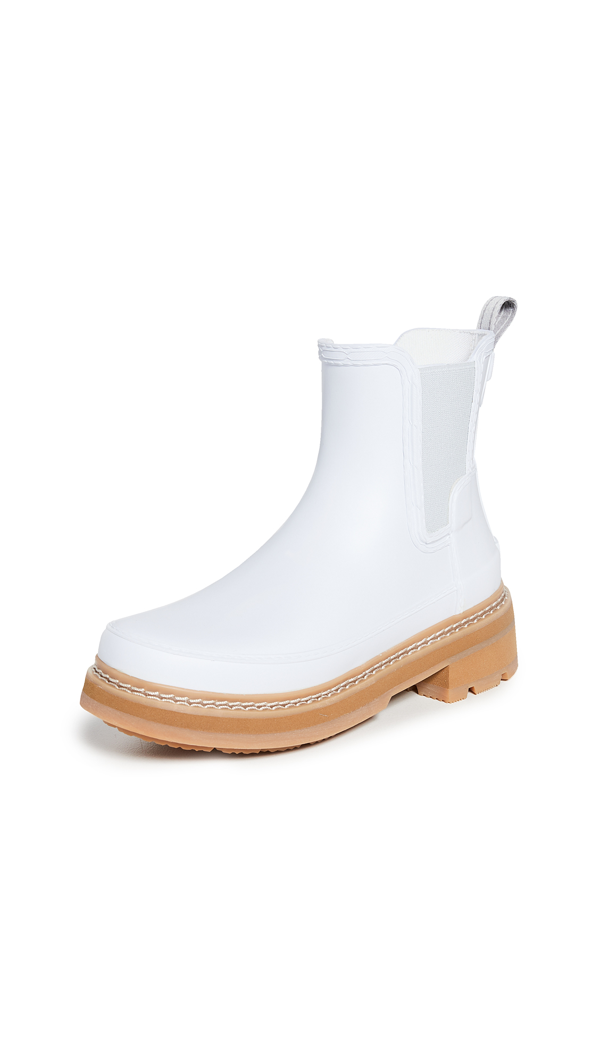 Hunter Refined Chelsea Stitch Detail Wellington Boots In Spurrey