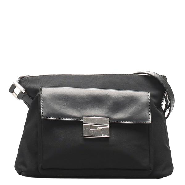 Pre-owned Gucci Black Canvas Shoulder Bag