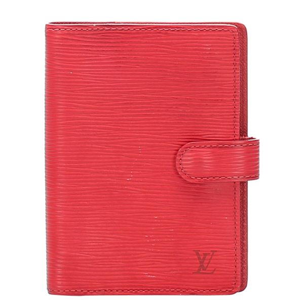 Pre-owned Louis Vuitton Red Epi Leather Agenda Cover