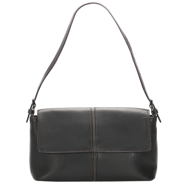 Pre-owned Burberry Black Leather Baguette