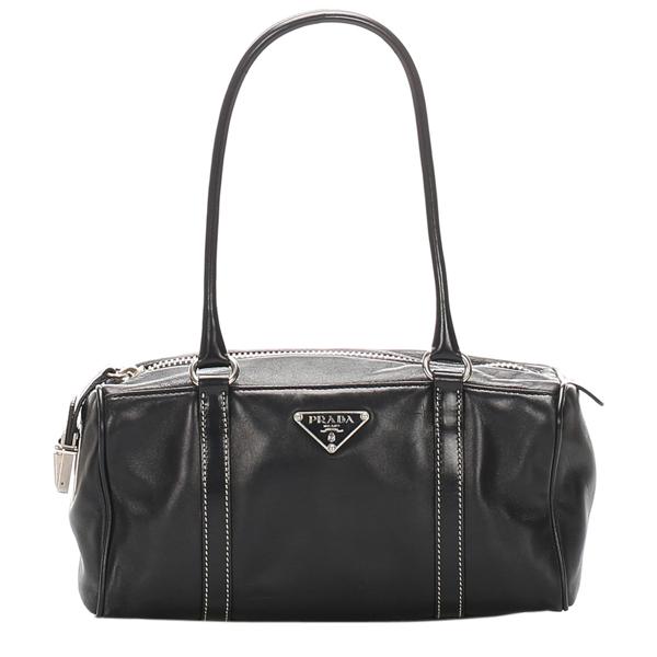 Pre-owned Prada Black Leather Shoulder Bag