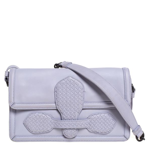 Pre-owned Bottega Veneta Light Lilac Leather Rialto Shoulder Bag In Purple