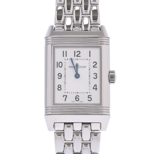 Pre-owned Jaeger-lecoultre Silver Stainless Steel Reverso Classic Quartz Women's Wristwatch 21 Mm