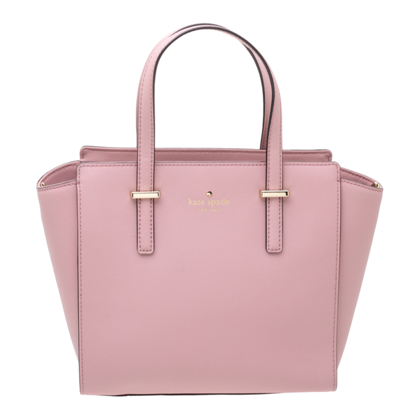 Pre-owned Kate Spade Powder Pink Leather Cameron Tote