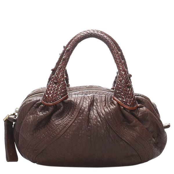 Pre-owned Fendi Brown Leather Spy Hobo