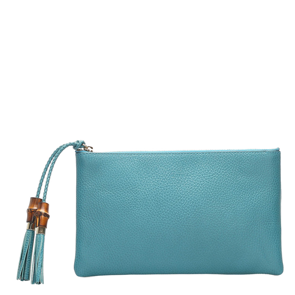 Pre-owned Gucci Blue Leather Dollar Calf Clutch Bag