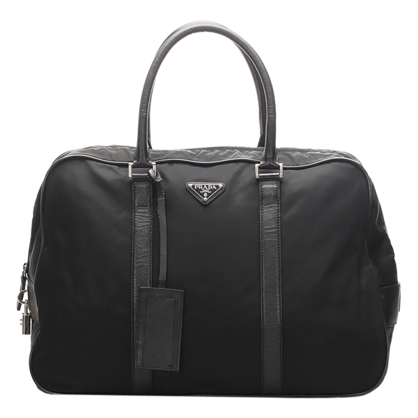 Pre-owned Prada Black Nylon Tessuto Travel Bag