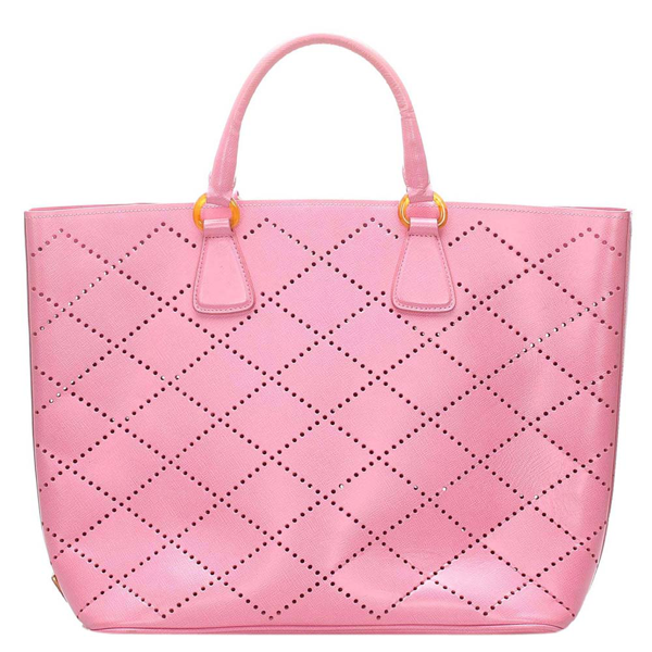 Pre-owned Prada Pink Saffiano Leather Tote Bag
