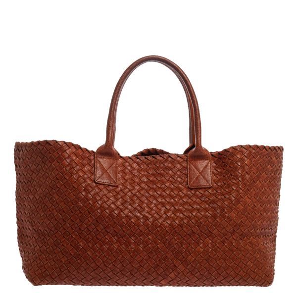 Pre-owned Bottega Veneta Cinnamon Stick Woven Leather Medium Limited Edition 180/500 Cabat Tote In Brown