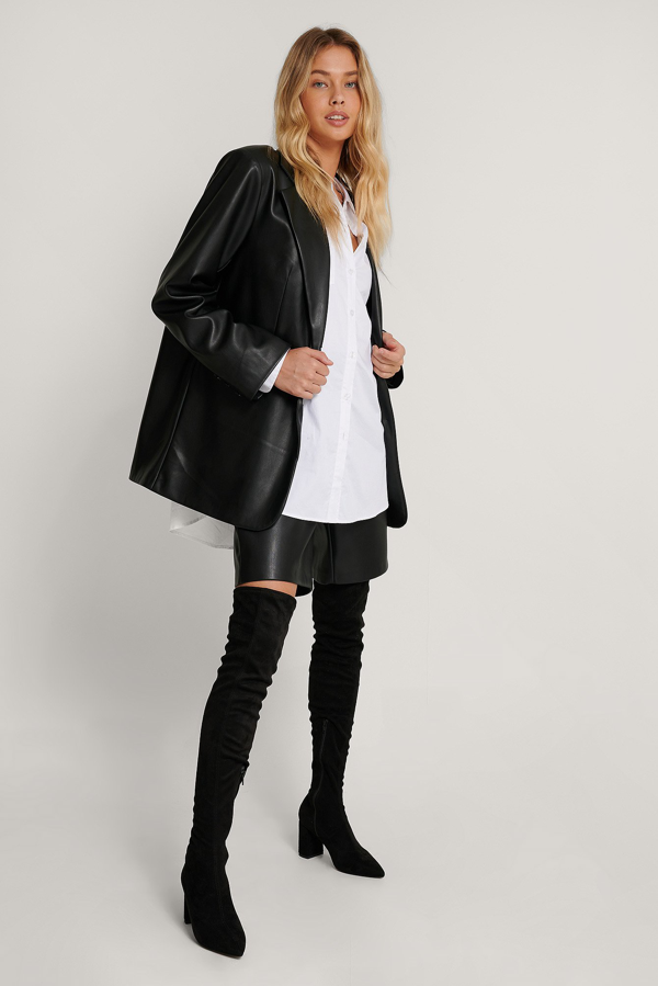 Na-kd Extended Welt Thigh High Boots Black