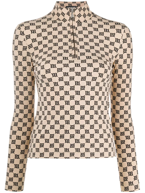 Misbhv Beige And Black Fitted Jumper In Neutrals