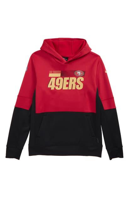 Nike Kids' Dri-fit Therma Nfl Logo San Francisco 49ers Hoodie In Red