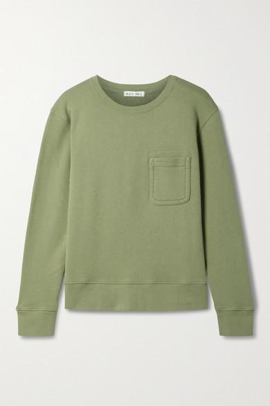 Alex Mill Garment Dyed Pocket Sweatshirt In Sage