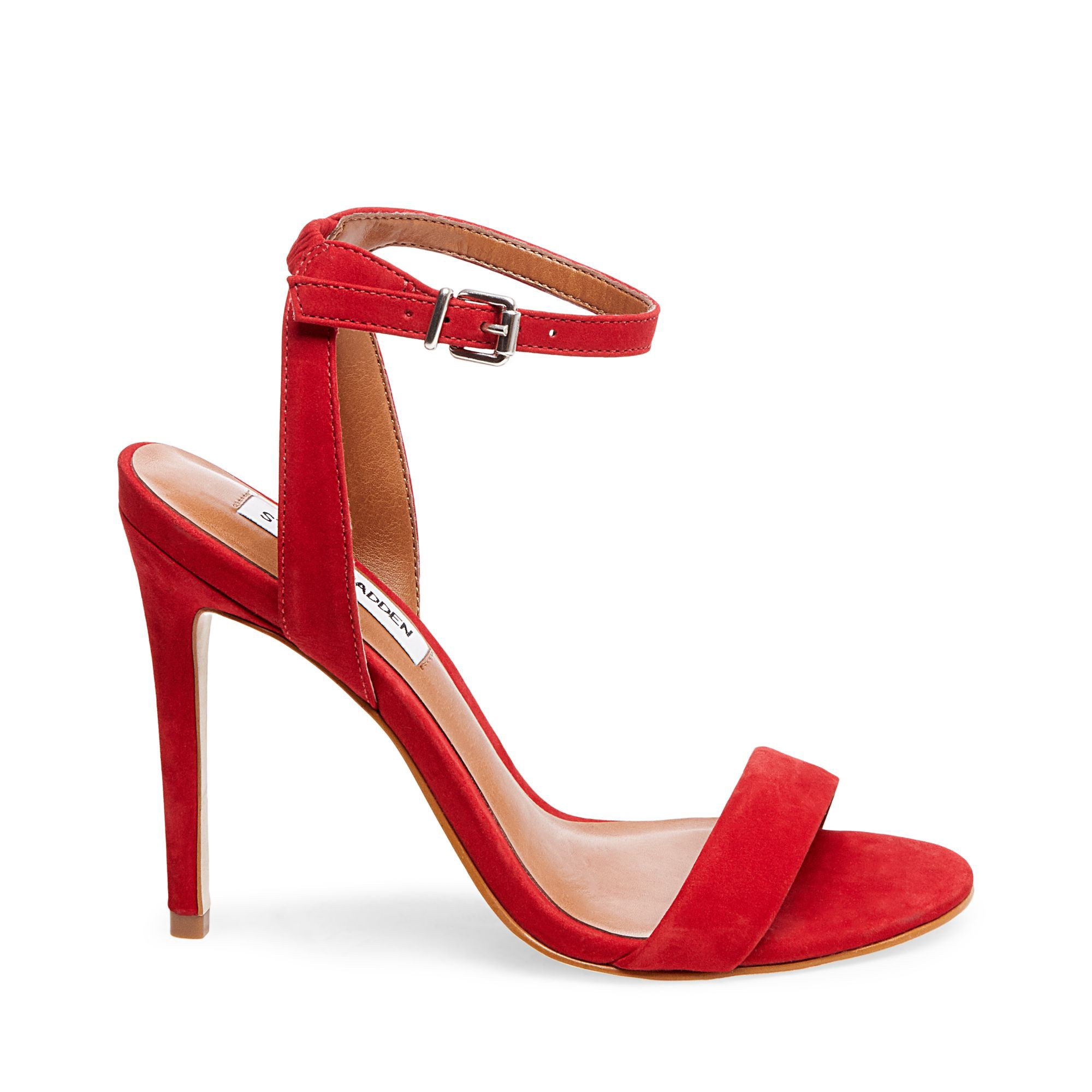 a7d08ebc866 A slim ankle strap lends a dash of on-trend elegance to a barely there  sandal lofted by a stiletto heel. Style Name  Steve Madden Landen Ankle  Strap Sandal ...
