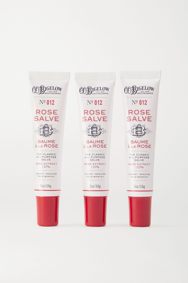 C.o. Bigelow Rose Salve Tube Trio, 3 X 14g In Colorless