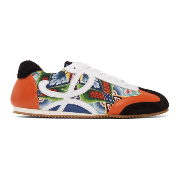 Loewe Abstract Print And L Monogram Sneakers In 9961 Multi