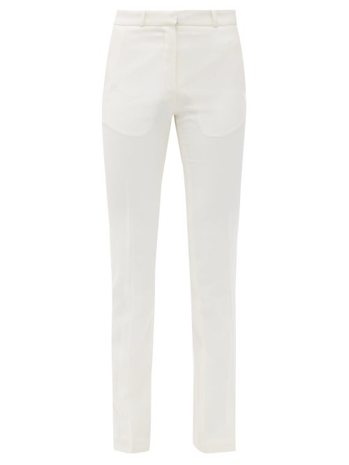 Pallas Paris Hudson High-rise Wool Trousers In White