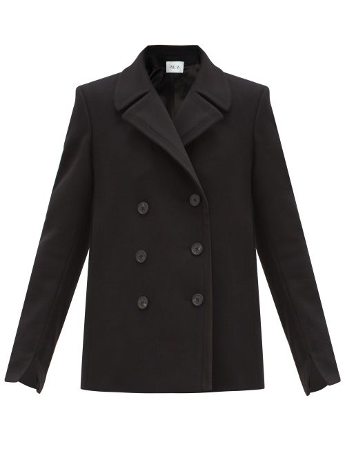 Pallas Paris Halifax Double-breasted Wool-blend Pea Coat In Black