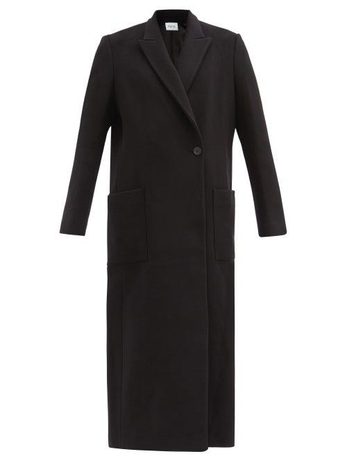 Pallas Paris Herode Felted Wool-blend Longline Coat In Black