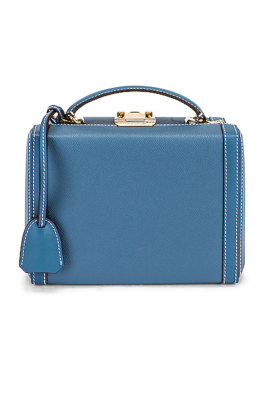 Mark Cross Small Grace Box Bag In Copen Blue