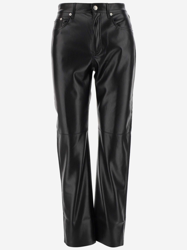 Nanushka Trousers In Nero