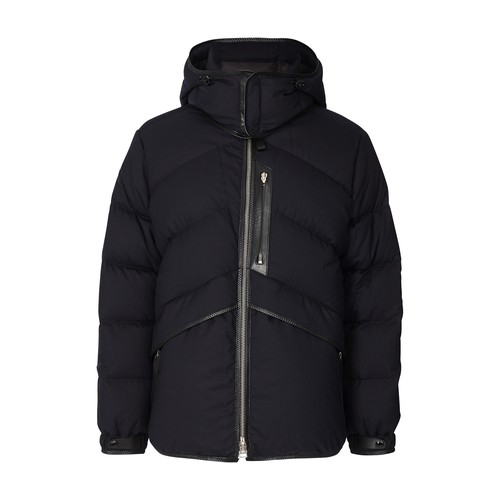 Tom Ford Hooded Puffer Jacket In Navy