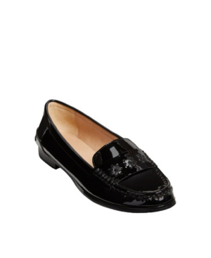 Jack Rogers Women's Remy Patent Loafer In Black Patent