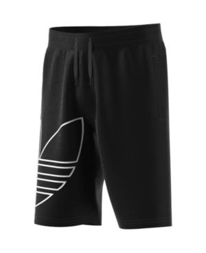 Adidas Originals Kids' Adidas Big Boys Large Trefoil Shorts In Black/white