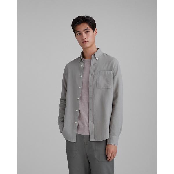 Club Monaco Sage Standard Fit Waffle Knit Shirt In Size M