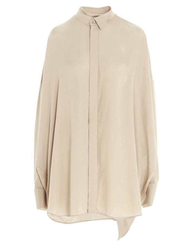 Balenciaga Tuxedo Beige Viscose Shirt