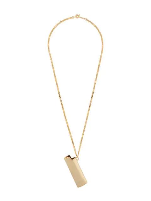 Ambush Lighter Case Pendant Necklace In Gold