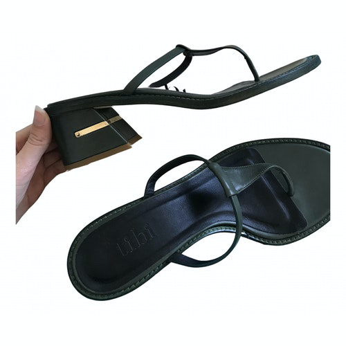 Pre-owned Tibi Khaki Leather Sandals