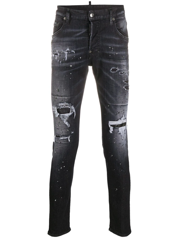 Dsquared2 Skater Slim-fit Jeans In Black