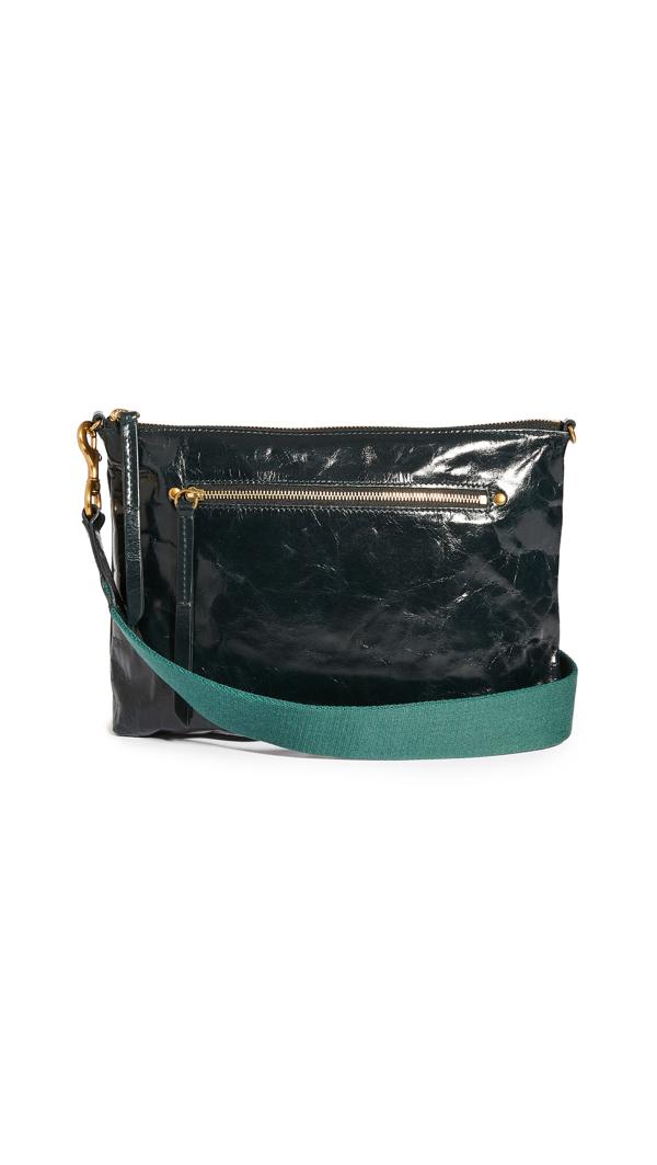 Isabel Marant Women's Small Nessah Leather Crossbody Bag In Dark Green