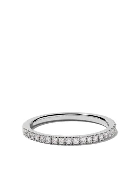 De Beers Women's Classic Diamond & Platinum Eternity Half Band Ring