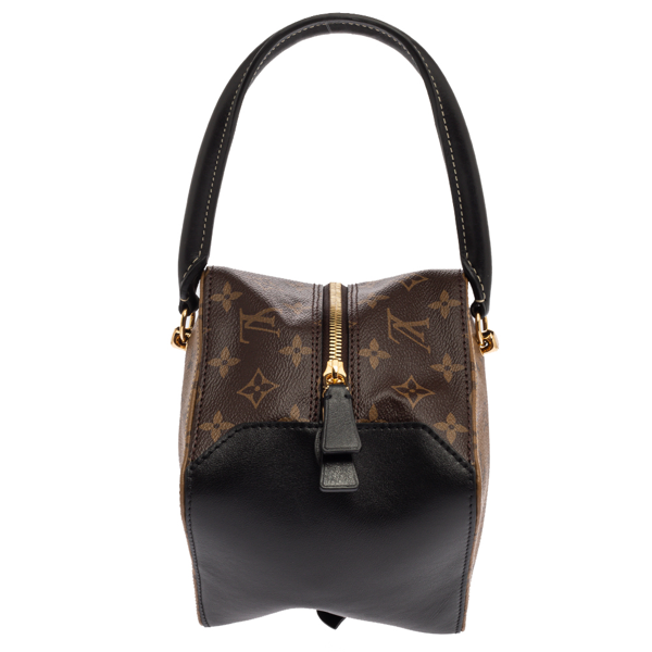 Pre-owned Louis Vuitton Reverse Monogram Canvas Square Bag In Brown