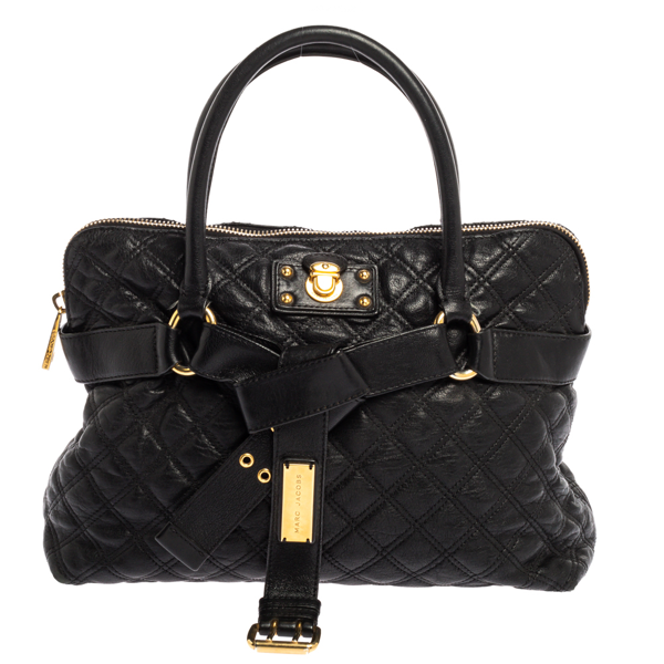 Pre-owned Marc Jacobs Black Leather Kari Satchel