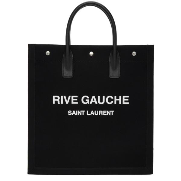 Saint Laurent Rive Gauche N/s Tote Bag In Black In 1070 Blkwhi