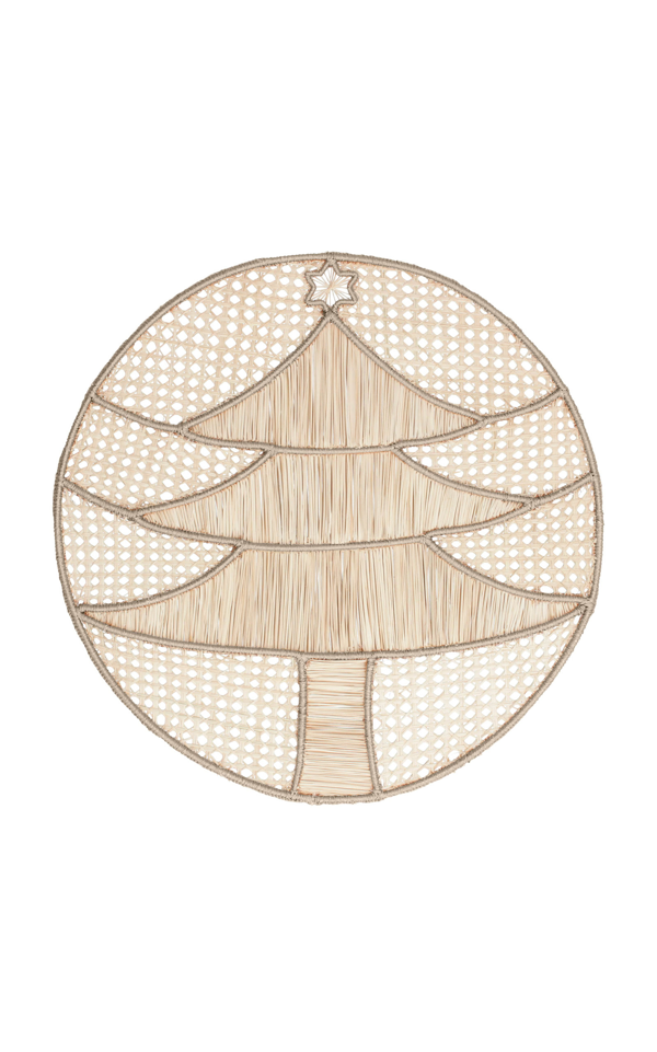 Mercedes Salazar Set Of 2 Tree Placemat In Neutral