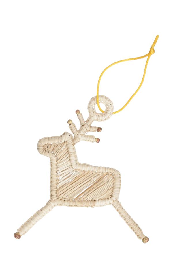 Mercedes Salazar Set Of 4 Deer Ornaments In Neutral