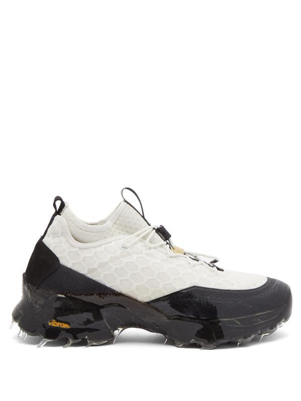 Roa Daiquiri Mid Sneakers In White In White Black