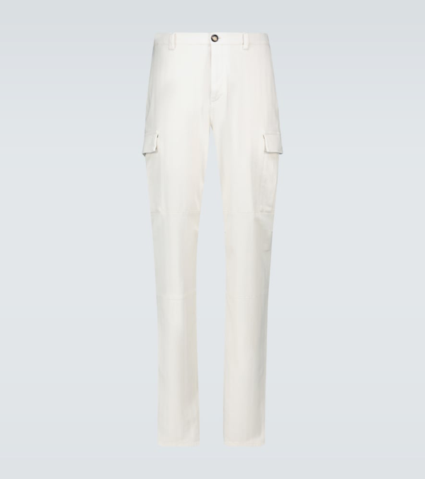 Brunello Cucinelli Cargo Pants In Travertine Color In Neutrals