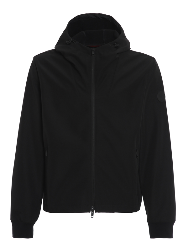Fay Hooded Jacket In Black