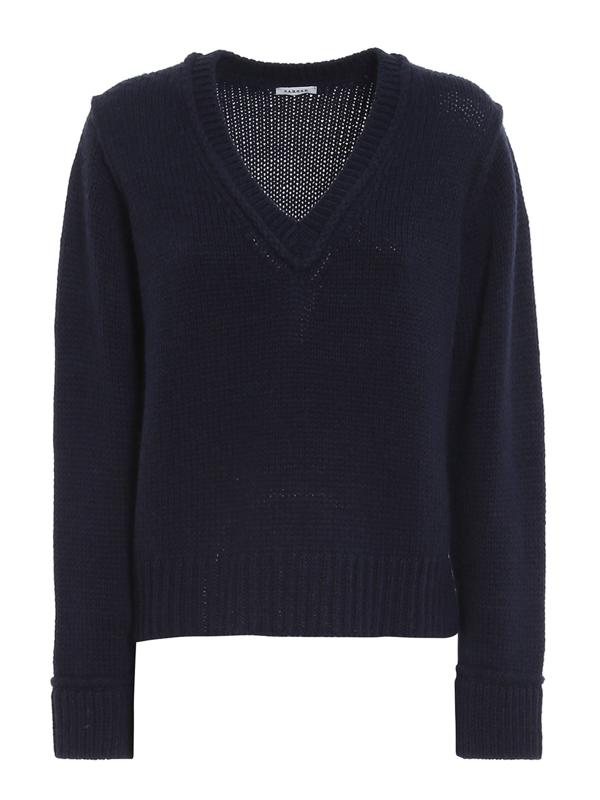 P.a.r.o.s.h. Wool Blend Sweater In Blue