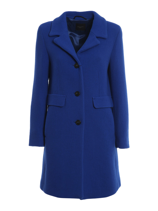 Weekend Max Mara Pece Coat In Blue