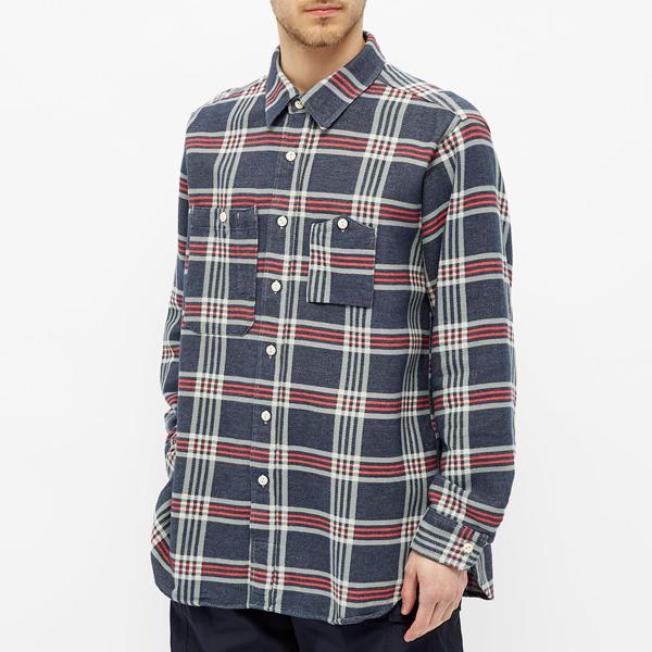 Engineered Garments Work Shirt In Blue
