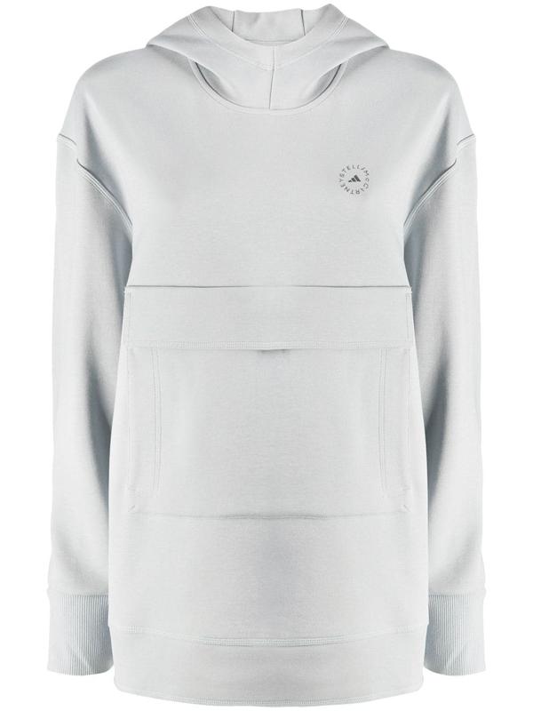 Adidas By Stella Mccartney Pull-on Hoodie In Grey